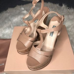Prada Calzature Donna Wedge Sandals